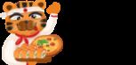 Логотип компании Кушай суши и пиццу